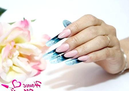 Фото - арочне моделювання довгих нігтів