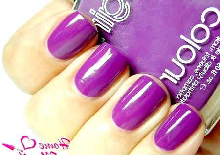 Фото - монотонний фіолетовий манікюр
