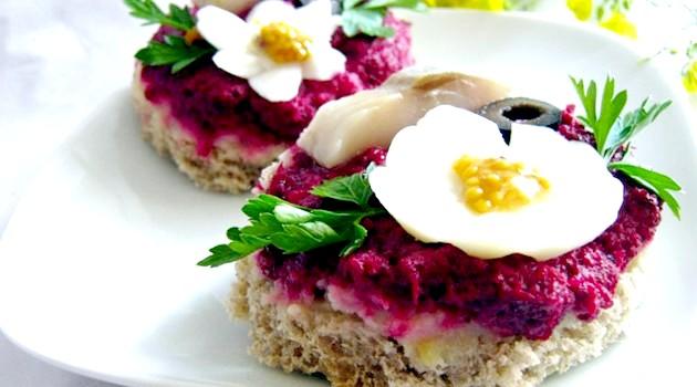 Бутерброди на святковий стіл (рецепти)