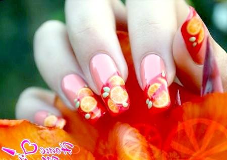 Фото - соковитий річний дизайн нігтів з фимо