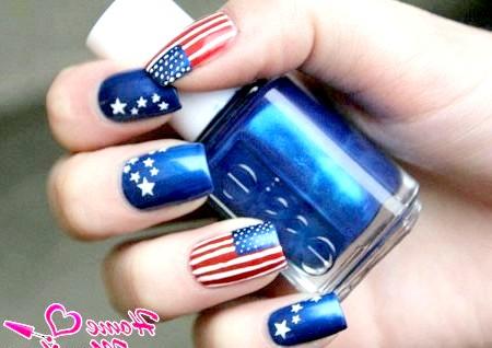 Фото - модний американський дизайн нігтів