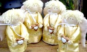 Душевні прикраси своїми руками - різдвяні ангели