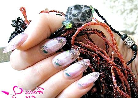 Фото - акваріумний дизайн нігтів з декоративним ліпленням