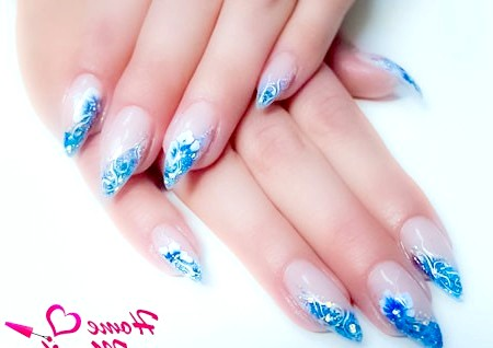 Фото - елегантні нігті в акваріумному стилі