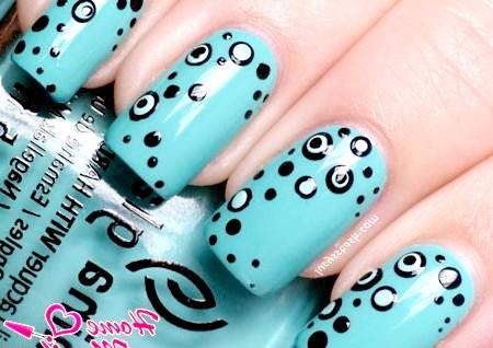 Фото - варіант точкового дизайну нігтів