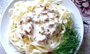 Грибний соус для спагетті - смачний обід на швидку руку