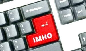 Имхо: що це означає? свобода думок у просторі мережі