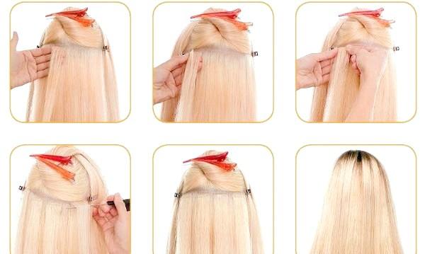 Фото - Удома можна осилити стрічковий спосіб нарощування волосся. Фото з сайту ux-hairs.ru