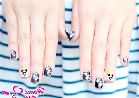 Як намалювати на нігтях панду?