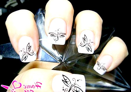 Фото - наклейки для нігтів із зображенням бабки