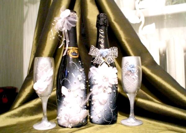 Фото - оформити пляшку шампанського