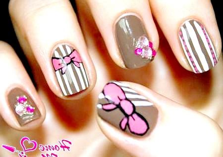 Фото - цікавий дизайн нігтів невеликої довжини