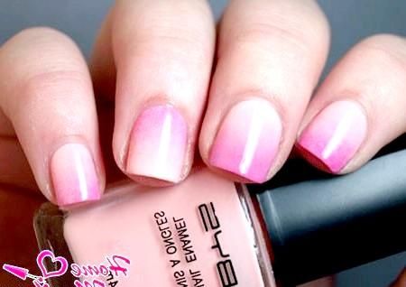 Фото - омбре манікюр в ніжно-рожевих тонах