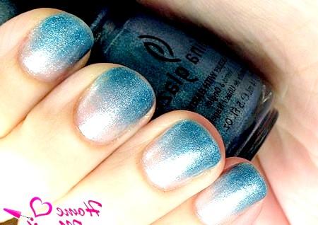 Фото - ефект градієнта на нігтях лаком china glaze