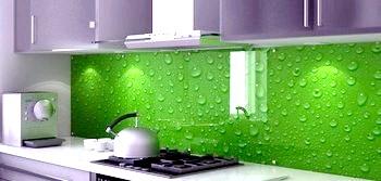 Фото - Як встановити скляний фартух для кухні. Фото з сайту vk.com