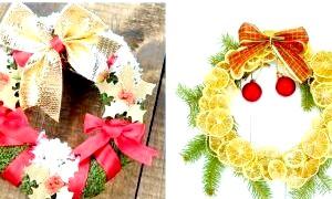 Як зробити новорічний вінок на двері своїми руками: втілення святкових ідей