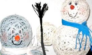 Як зробити сніговика з ниток: два легких способу створити новорічний настрій