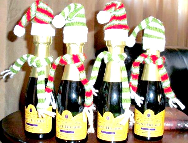 Фото - новорічне шампанське