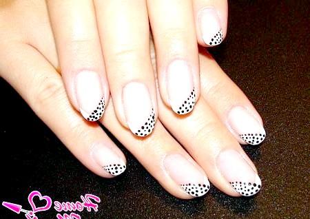 Фото - френч на овальних нігтях