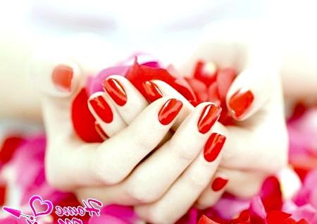 Фото - яскраво-червоний манікюр на овально-квадратних нігтях