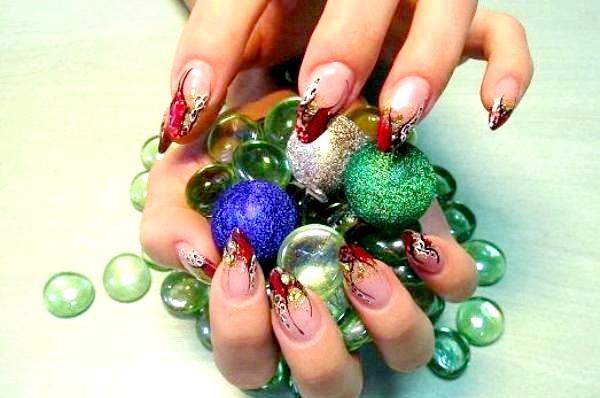Фото - кольори для новорічного манікюру