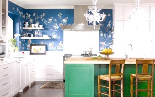 Фото - Синій і зелений на кухні