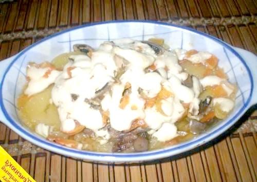 Фото - Індичка з картоплею в духовці
