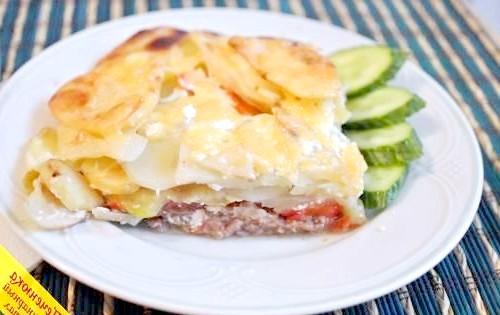 Фото - Соковита яловичина в духовці з картоплею