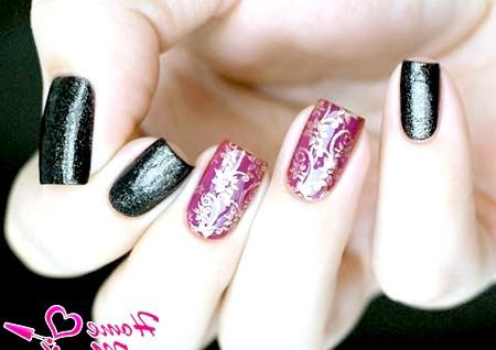 Фото - шикарний дизайн нігтів з квітковим візерунком