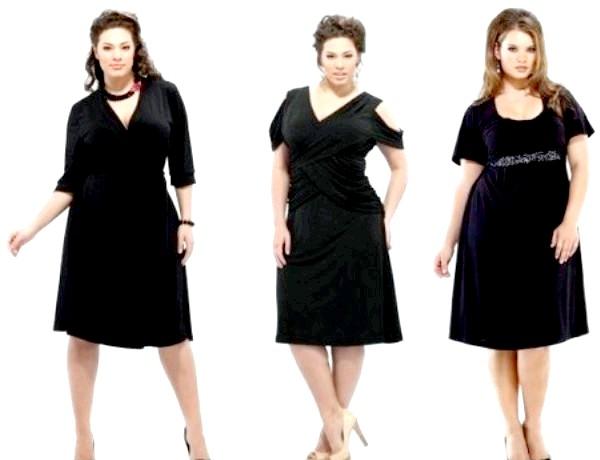 Фото - Коктейльне плаття для повних жінок