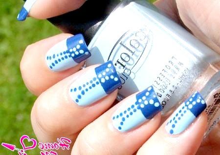 Фото - гарний дизайн нігтів ДОТС під джинси