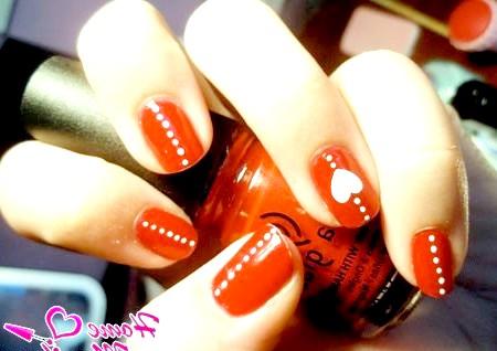 Фото - романтичний червоний дизайн нігтів