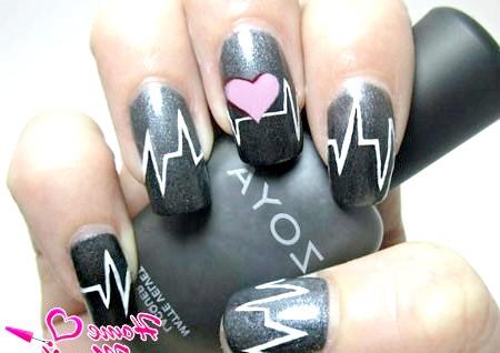 Фото - сірий пульсуючий дизайн нігтів