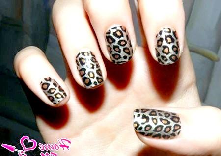 Фото - леопардовий манікюр за допомогою наклейок minx