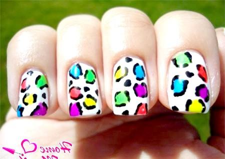 Фото - літній варіант леопардового дизайну