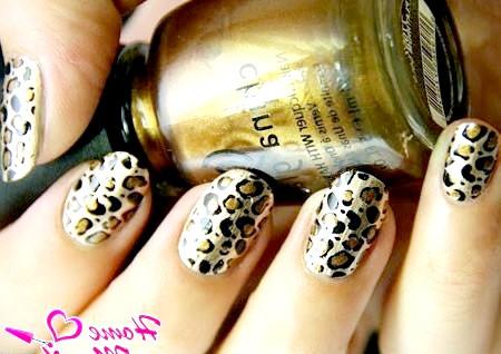 Фото - манікюр леопард на основі лаку china glaze