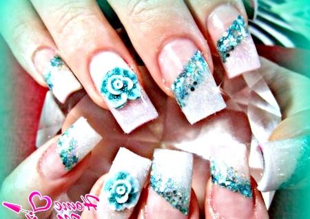 Фото - стильний варіант зимового дизайну нігтів