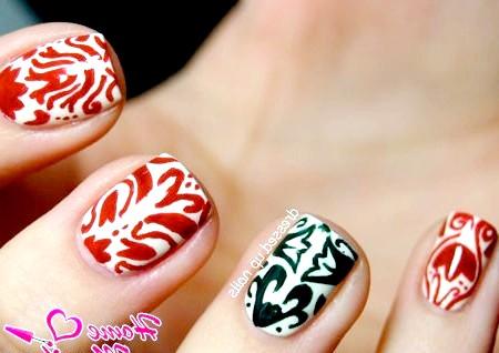 Фото - гарні візерунки пензликом на нігтях