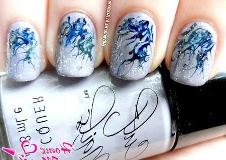 Фото - стильний абстрактний дизайн нігтів