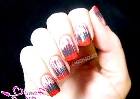 Фото - легкий абстрактний дизайн нігтів