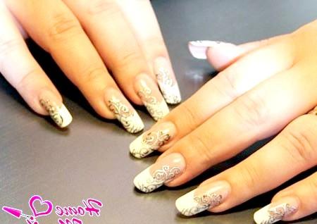 Фото - срібне лиття на нігтях