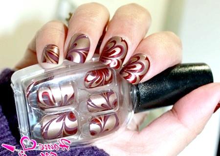 Фото - імітація водного манікюру на нігтях Impress
