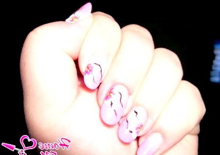 Фото - ніжний рожевий градієнт з гарними малюнками