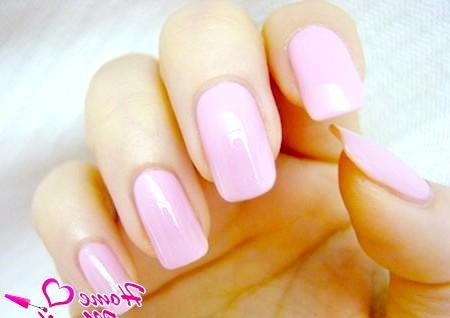 Фото - пастельний рожевий дизайн нігтів