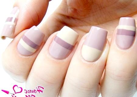 Фото - витончений геометричний дизайн нігтів в пастельних тонах