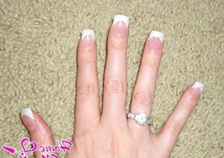 Фото - невеликі нігті акрил френч