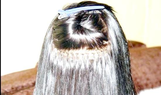 Нарощування волосся за допомогою металевих намистин