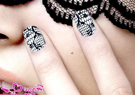 Ніжний і елегантний мереживний дизайн нігтів