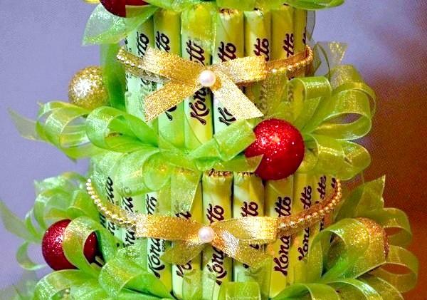 Фото - Аналогічним чином робиться торт з цукерок