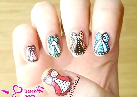 Фото - оригінальний дизайн нігтів з корсетами